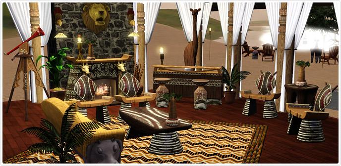 safari living set store the sims 3
