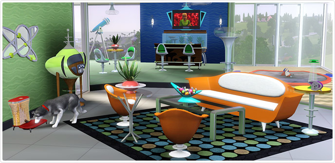 Atomic Age Living And Dining The Sims 3