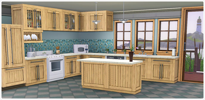 Bayside kitchen set store the sims 3 for Cuisine moderne sims 3