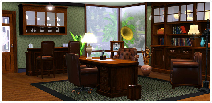 Club vaindenburger relaxation den study store the sims 3