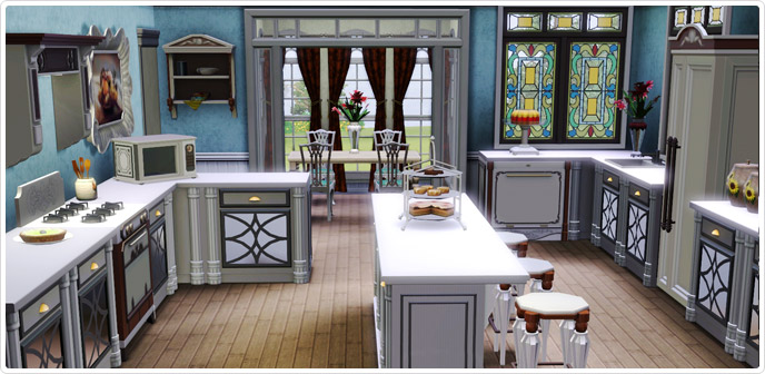 Edwardian expression kitchen set store the sims 3 for Sims 3 kitchen designs