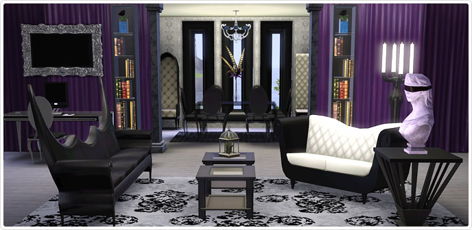 Moderne Woonkamer Set : Gothic glamour living room and home office ...