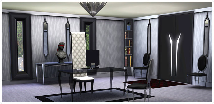 Gothic glamour home office set store the sims 3