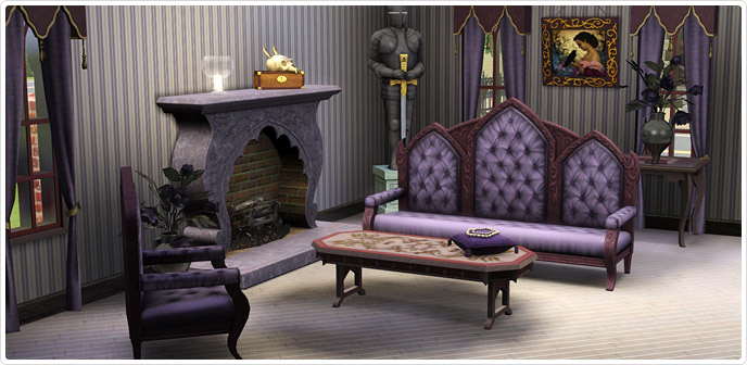 Gothique Living Room - Store - The Sims™ 3