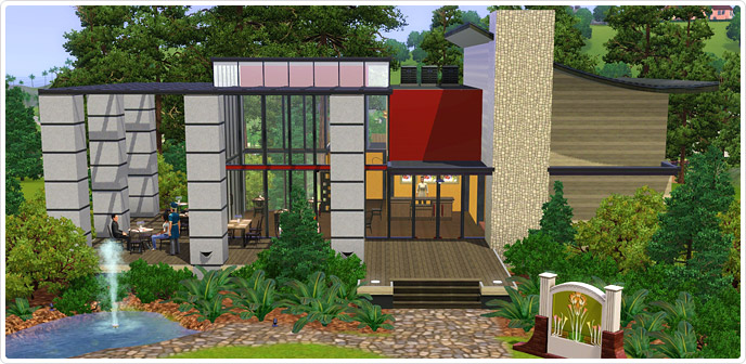 Business as usual bistro store the sims 3 for Simsoucis