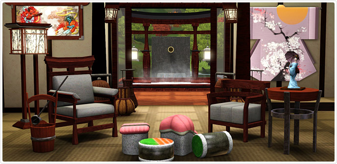 Japanese Inspired Living Compilation Store The Sims 3
