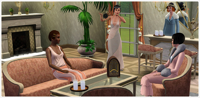 Jazz Age Living Room + Jazz Age Wear - Store - The Sims™ 3