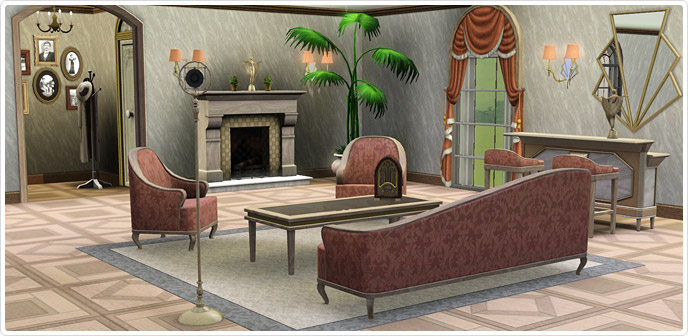 Jazz age living room store the sims 3 for Living room ideas sims 3