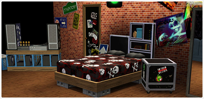 wake up with attitude in this funky punk room hopefully your mom