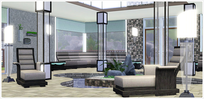 Luxe lounge spa store the sims 3 for Lux salon and spa