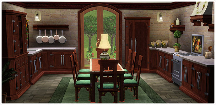 Mediterranean Villa Kitchen Dining Store The Sims 3