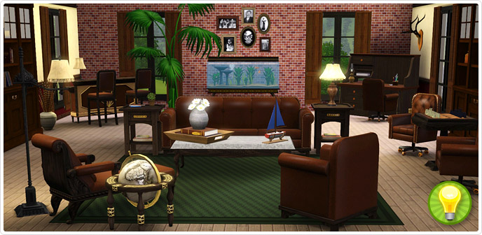 The gentlemens lounge collection store the sims 3