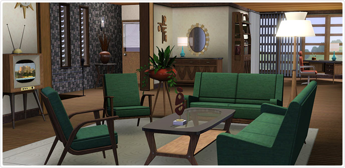 Mid Century Fantasy Store The Sims 3