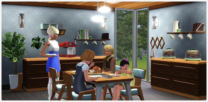 Mid Century Modern Dining And Style Set Store The Sims 3