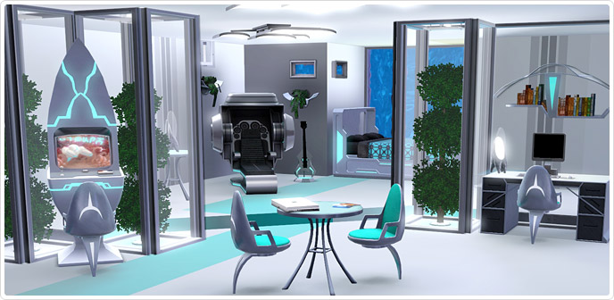 Dormitorio Futuro fascinante