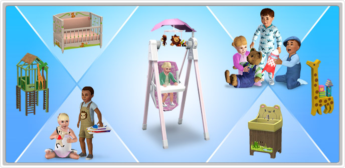 Tip top toddler collection store the simstm 3 for Sims freeplay baby bathroom