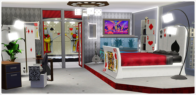 Viva las vegas bedroom store the sims 3 for Sims 3 master bedroom ideas