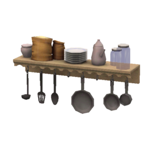 Pastoral Practical Kitchen Shelf Store The Sims 3