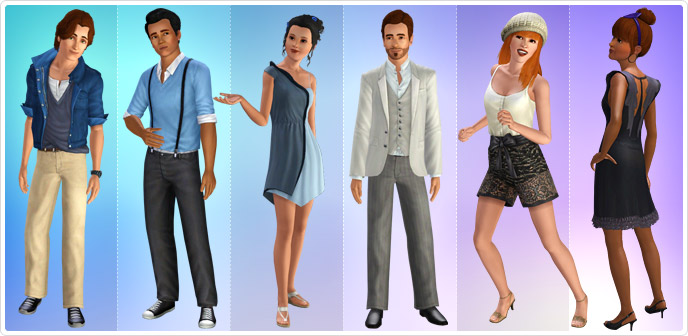 vestiti the sims 3