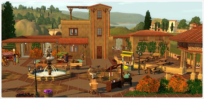 Al Fresco Street Market - Store - The Sims™ 3