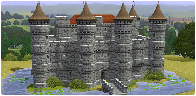 The complete castle by castle kits inc store the sims 3 for Build your own castle home
