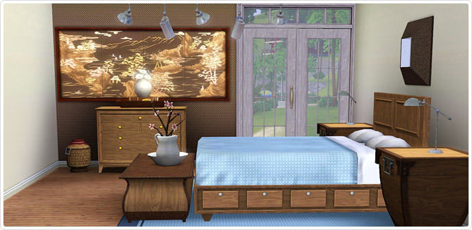 Contemporary Comfort Bedroom - Store - The Sims™ 3