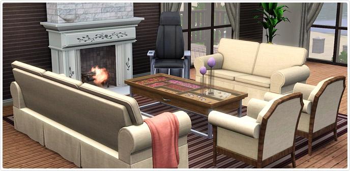 Soggiorno Comfort Contemporaneo - Store - The Sims™ 3