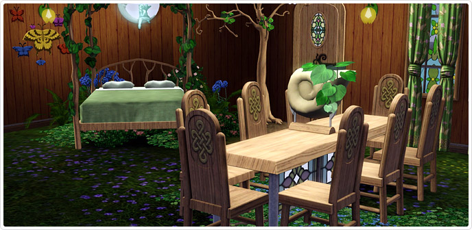 Faire folk furnishings slumber den store the sims 3