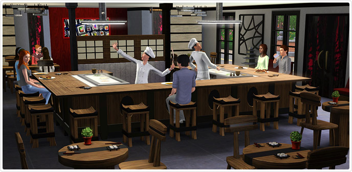 Itadakimasu Japanese Inspired Dining Store The Sims 3 : Thumbnail688x336 from store.thesims3.com size 688 x 336 jpeg 85kB