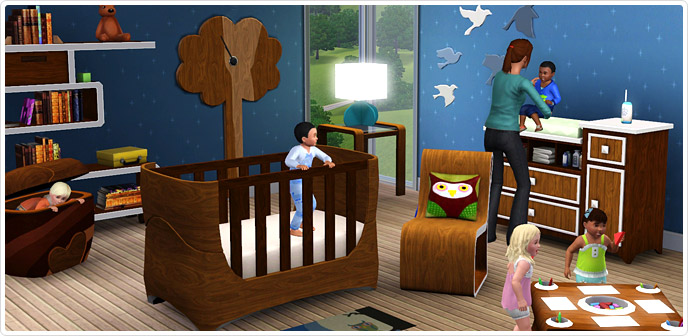 Lullabies and nursery rhymes store the simstm 3 for Sims freeplay baby bathroom