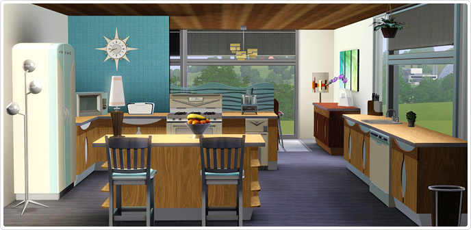 Mid Century Modern Kitchen Marvels Store The Sims 3
