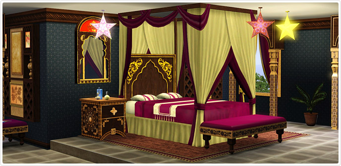 India Inspirations Bedroom Set - Store - The Sims™ 3