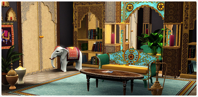 india inspirations living room set store the sims 3. Black Bedroom Furniture Sets. Home Design Ideas