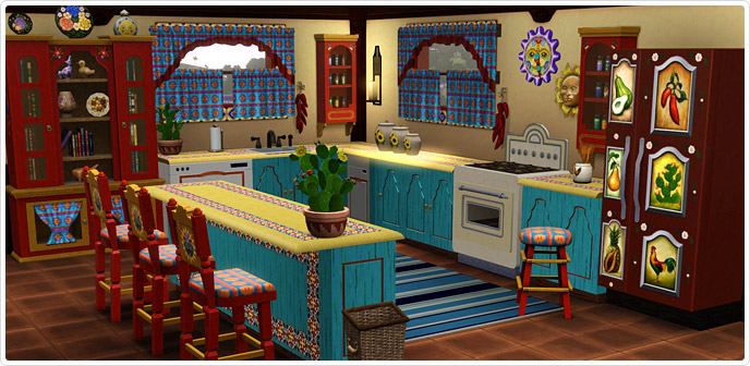 Haute hacienda kitchen set store the sims 3
