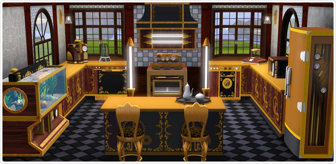 Steampunk Kitchen - Store - The Sims™ 3