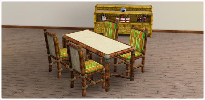 Tiki Dining Room Set