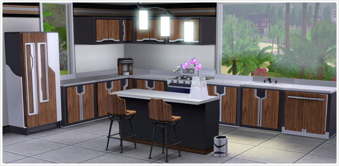 cuisine ultra design store les sims 3. Black Bedroom Furniture Sets. Home Design Ideas