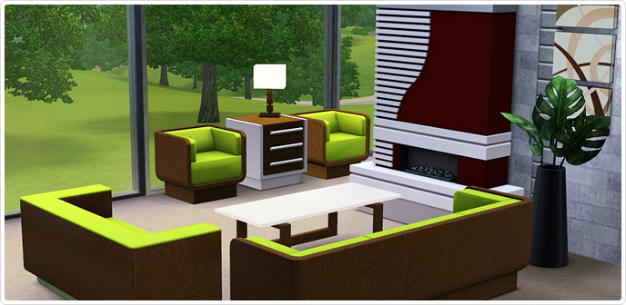 Ultra lounge living set store the sims 3 - Sims 3 wohnzimmer modern ...