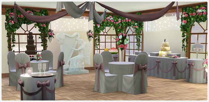 Romanza ceremony reception store the sims 3
