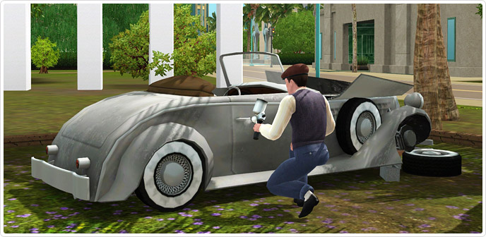 Classically cool fixer upper car store the sims 3 for Construire une maison sims 3 xbox 360